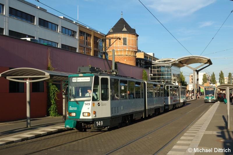 Bild: 149 als Linie 91 am Hauptbahnhof.