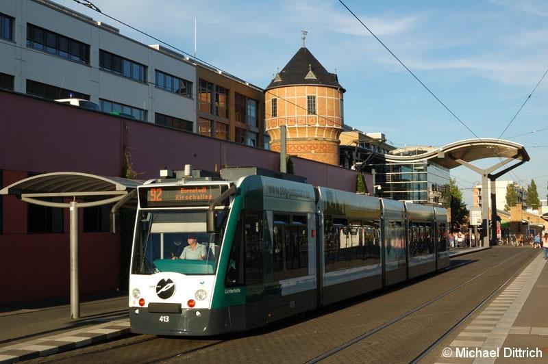 Bild: 413 als Linie 92 am Hauptbahnhof.