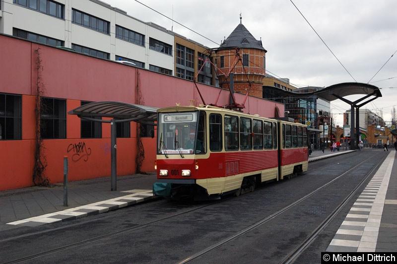 Bild: 001 als ViP Glühwein-Express am Hauptbahnhof.