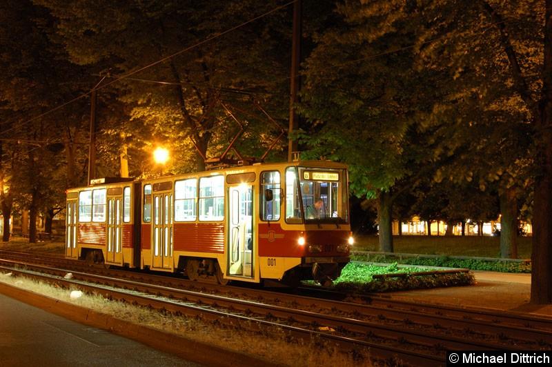 Bild: Fotohalt: Platz der Einheit/Ost.  Geschildert als Linie 8