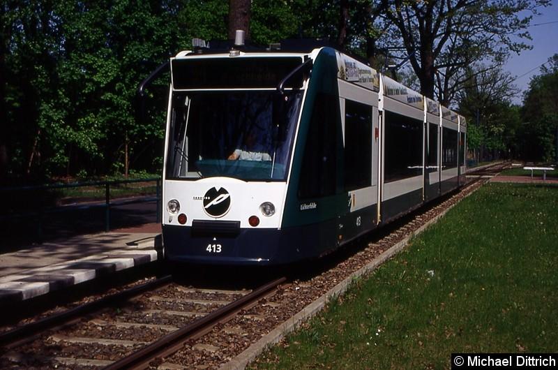 413 als Linie 94 an der Haltestelle Fontanestr.