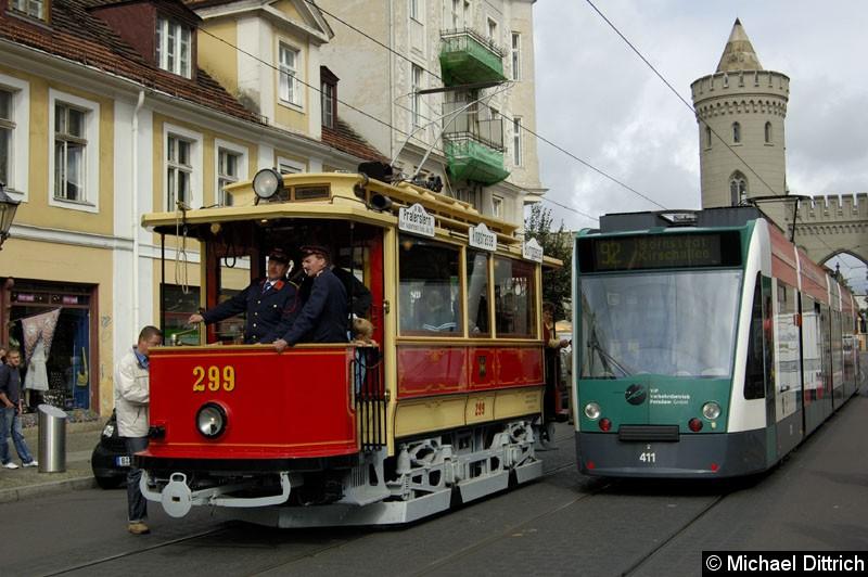 Bild: Wagen 299 am Nauener Tor.