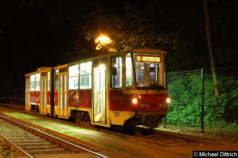 Bild: Fotohalt: Wendeschleife Fontanestraße.  Geschildert als Linie 4