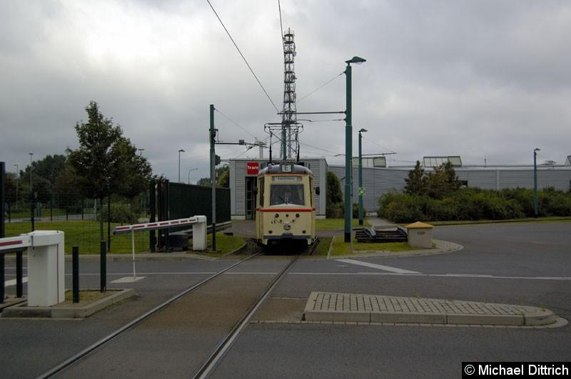 Bild: Wagen 46 aus Rostock auf dem Weg zur Fahrzeugaustellung.