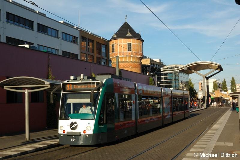 Bild: 401 als Linie 93 am Hauptbahnhof.