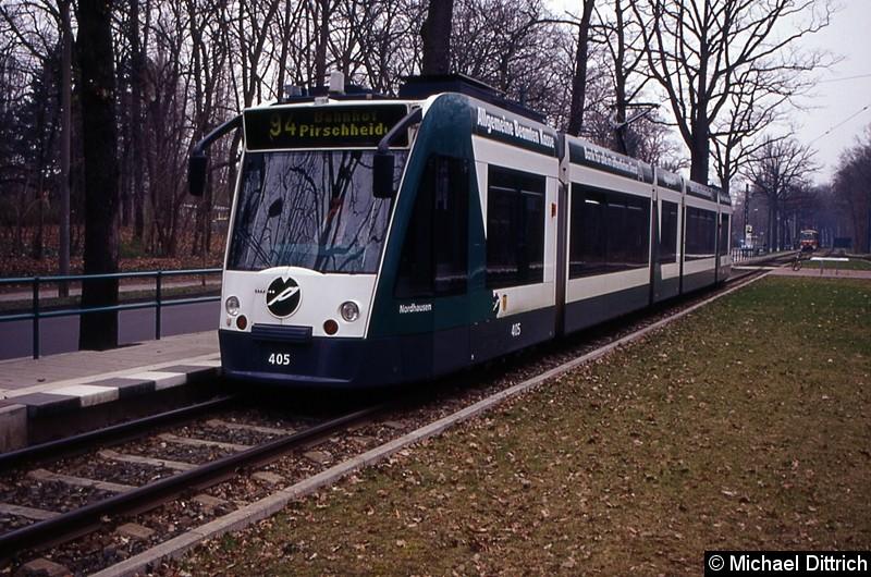 405 als Linie 94 an der Haltestelle Fontanestr.