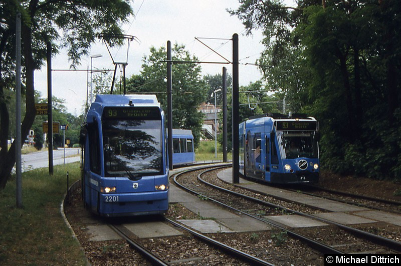 Bild: Wendeschleife Bahnhof Rehbrücke.