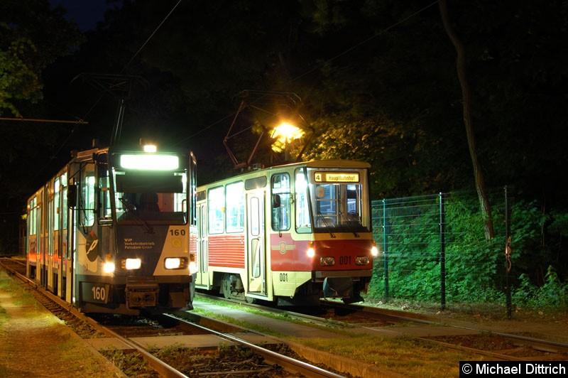 Bild: Fotohalt: S Babelsberg.  Geschildert als Linie 4