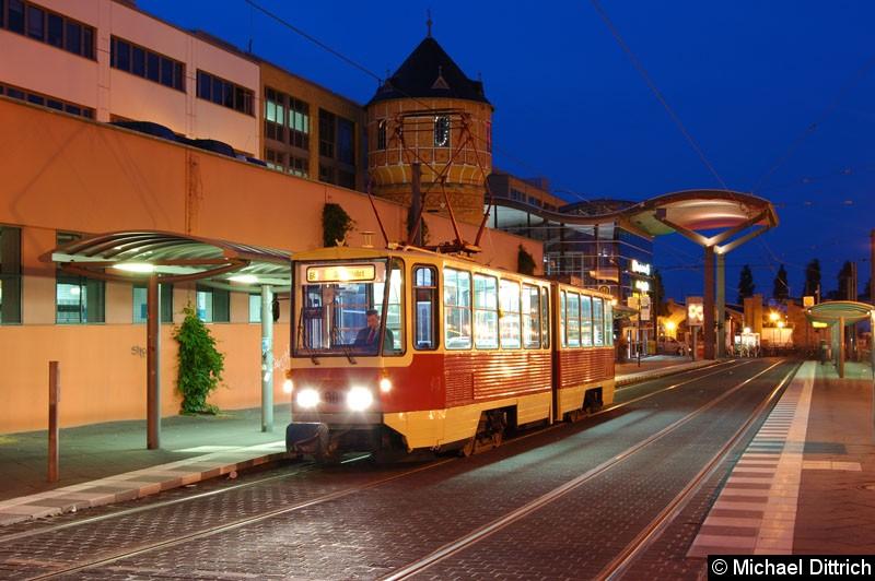 Bild: Fotohalt: Hauptbahnhof.  Geschildert als Linie 6E