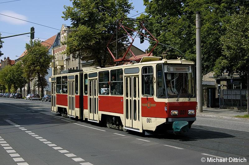 Bild: 001 als TRAMTours 2007 in der Rudolf-Breitscheid-Straße.