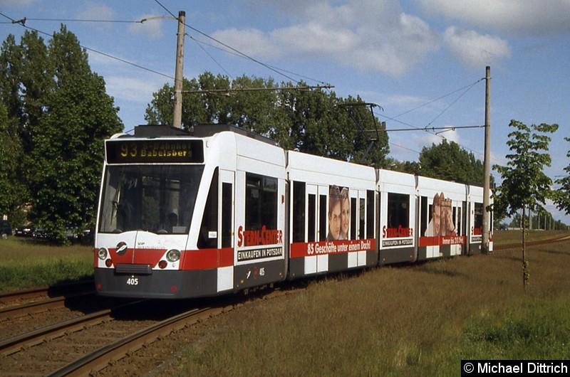 405 als Linie 93 kurz hinter der Haltestelle Holzmarktstr.