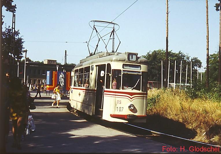 Tw 107 auf SL1 am damaligen Hbf