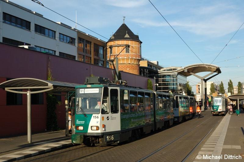 Bild: 156 als Linie 91 nach Schloss Charlottenhof am Hauptbahnhof.
