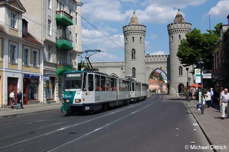 Bild: 154 und 254 als Linie 92 am Nauener Tor.
