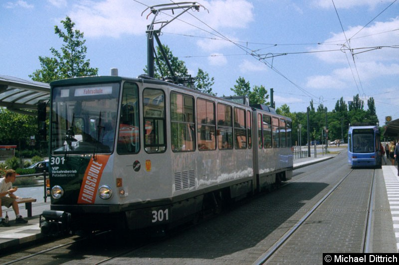 Bild: 301 ist Fahrschul- und Oberleitungsrevisionswagen. Hier steht er am Hauptbahnhof.