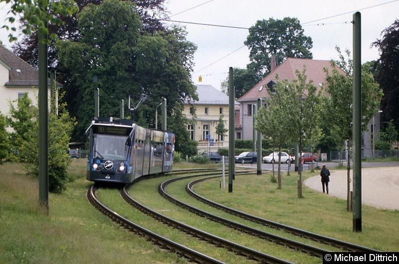 410 als Linie 90 in Höhe der alten Endstelle Kapellenberg.