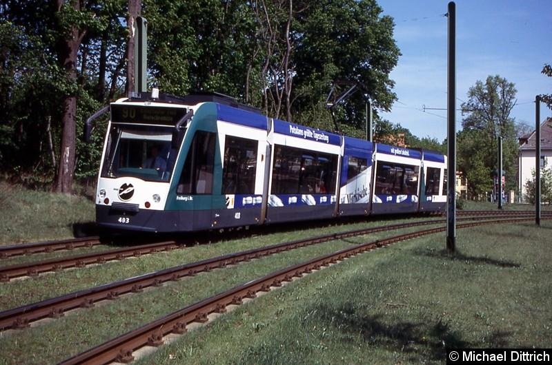 403 als Linie 90 in Höhe der alten Endstelle Kapellenberg.