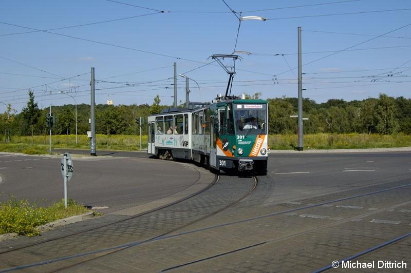 Bild: 301 als TRAMTours 2007 auf der Kreuzung Georg-Hermann-Str./Kiepenheuer Allee.
