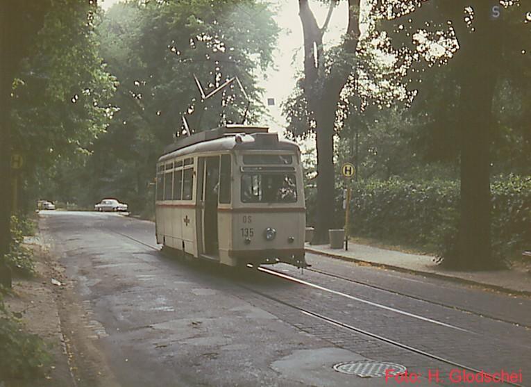 Wagen 135 als Pendelzug am Kapellenberg