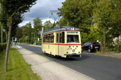 Bild: Ein LOWA-Triebwagen aus Rostock zu Gast in Potsdam.